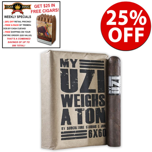 Drew Estate MUWAT 760 (7x60 / Bundle 10) + 25% OFF RETAIL PRICING + FREE 5-PACK OF TREMENDOS BY CASA CUEVAS + FREE SHIPPING ON YOUR ENTIRE ORDER!