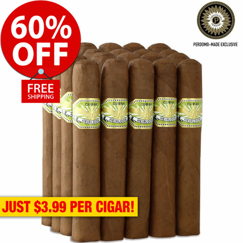 Cuban Heirloom Sungrown Toro (5.5x54 / Bundle of 20) + 60% OFF RETAIL! + FREE SHIPPING ON YOUR ENTIRE ORDER!
