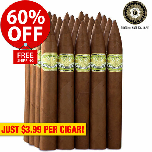 Cuban Heirloom Sungrown Torpedo (6x54 / Bundle of 20) + 60% OFF RETAIL! + FREE SHIPPING ON YOUR ENTIRE ORDER!