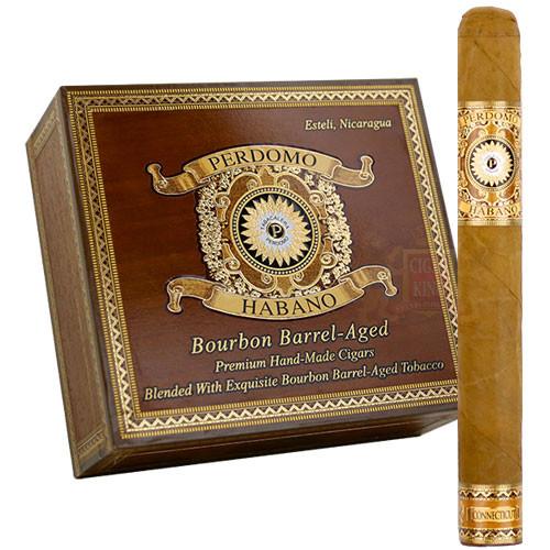 Perdomo Habano Bourbon Barrel Aged Connecticut Churchill (7x54 / Box 24)