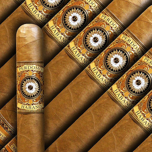 Perdomo Habano Bourbon Barrel Aged Connecticut Churchill (7x54 / 5 Pack)