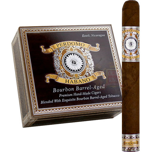 Perdomo Habano Bourbon Barrel Aged Maduro Churchill (7x54 / Box 24)