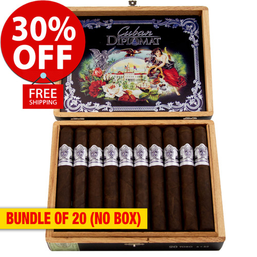 Cuban Diplomat Limited Edition Toro By AJ Fernandez (6x52 / Pack 20) + 30% OFF RETAIL! + FREE SHIPPING ON YOUR ENTIRE ORDER!
