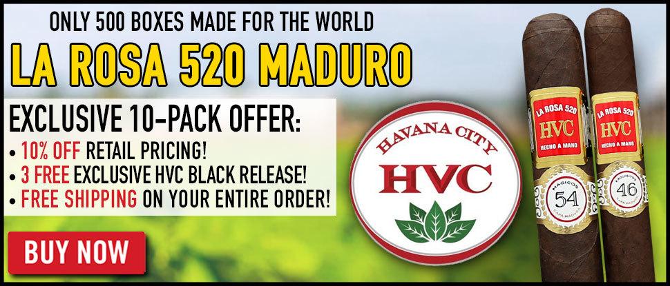 NEW HVC La Rosa 520 Maduro Limited Edition!