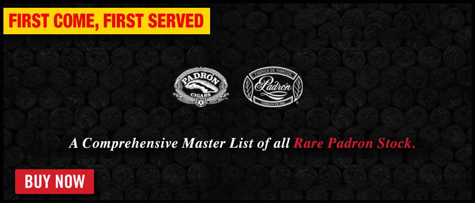 Padron Master List - STOCK RARE!