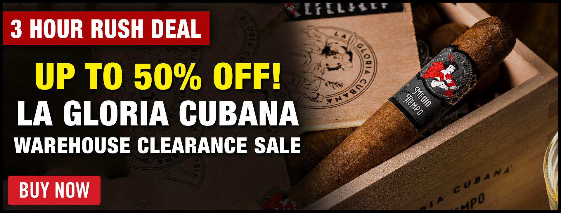 50% OFF La Gloria Cubana Media Tiempo