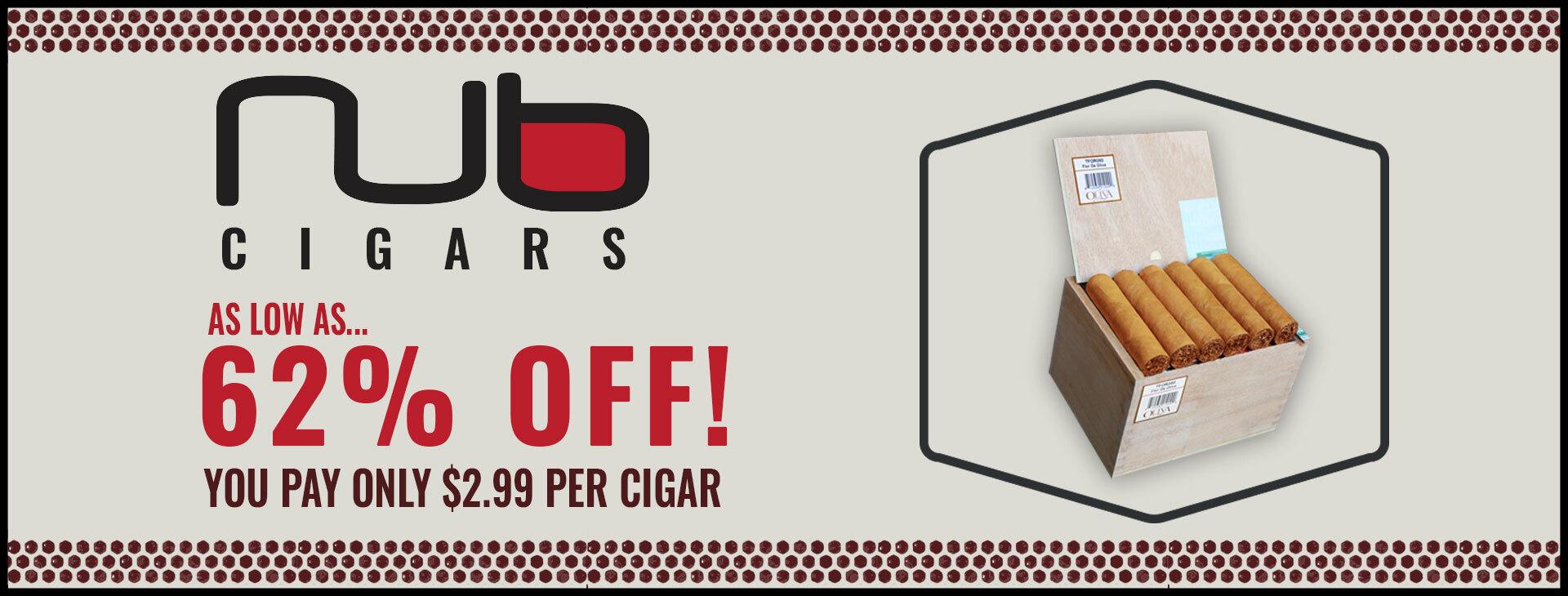 NUB CIGARS - AS LOW AS $2.99