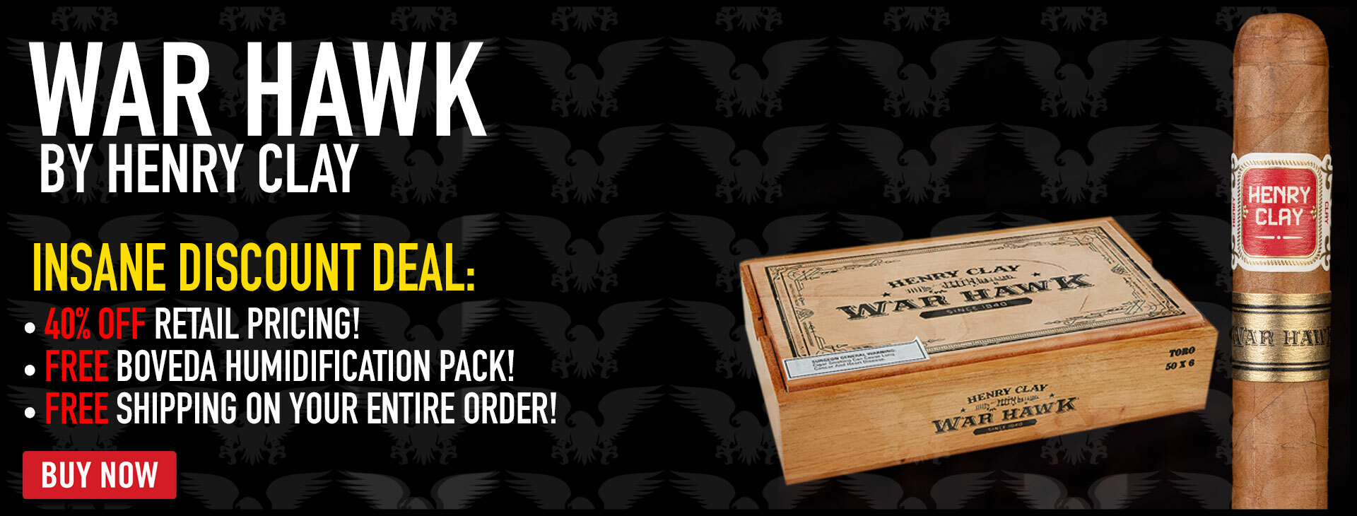40% OFF WAR HAWK BY HENRY CLAY
