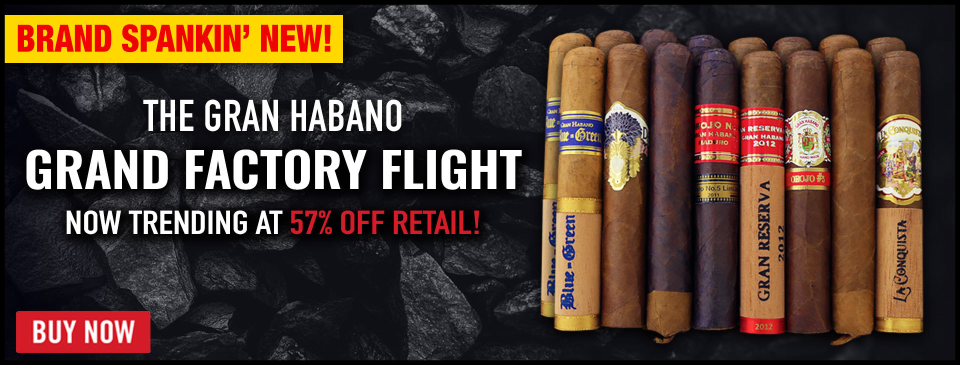 57% OFF Gran Habano Bestseller Flights!