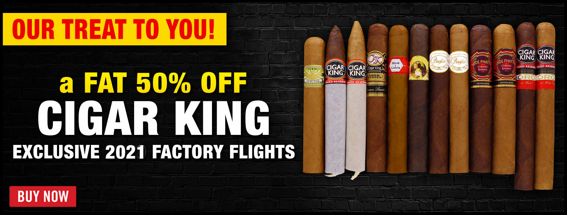 50% OFF: Cigar King 2021 Factory Flights
