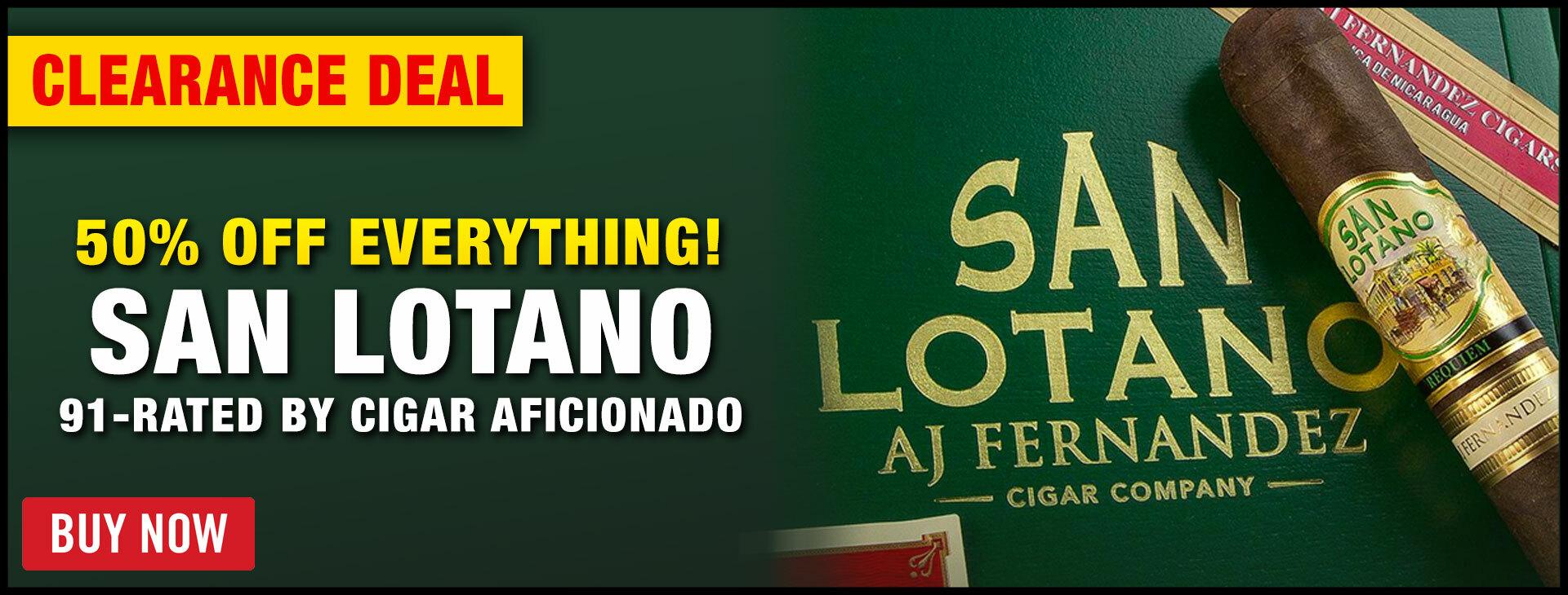 50% OFF EVERYTHING: AJ FERNANDEZ SAN LOTANO