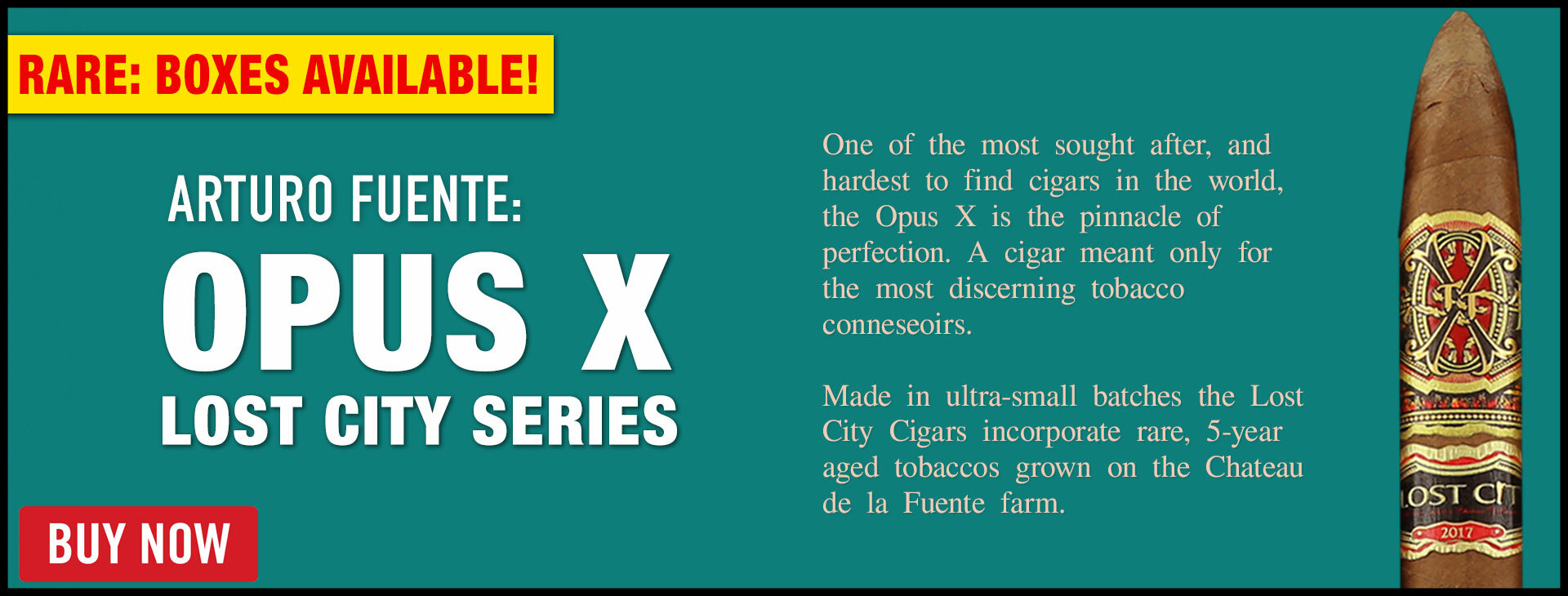 RED ALERT: OPUS X BOXES AVAILABLE!