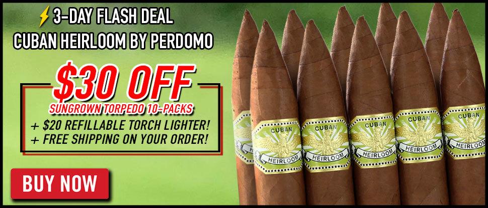 $30 OFF Cuban Heirloom By Perdomo 10 Packs!