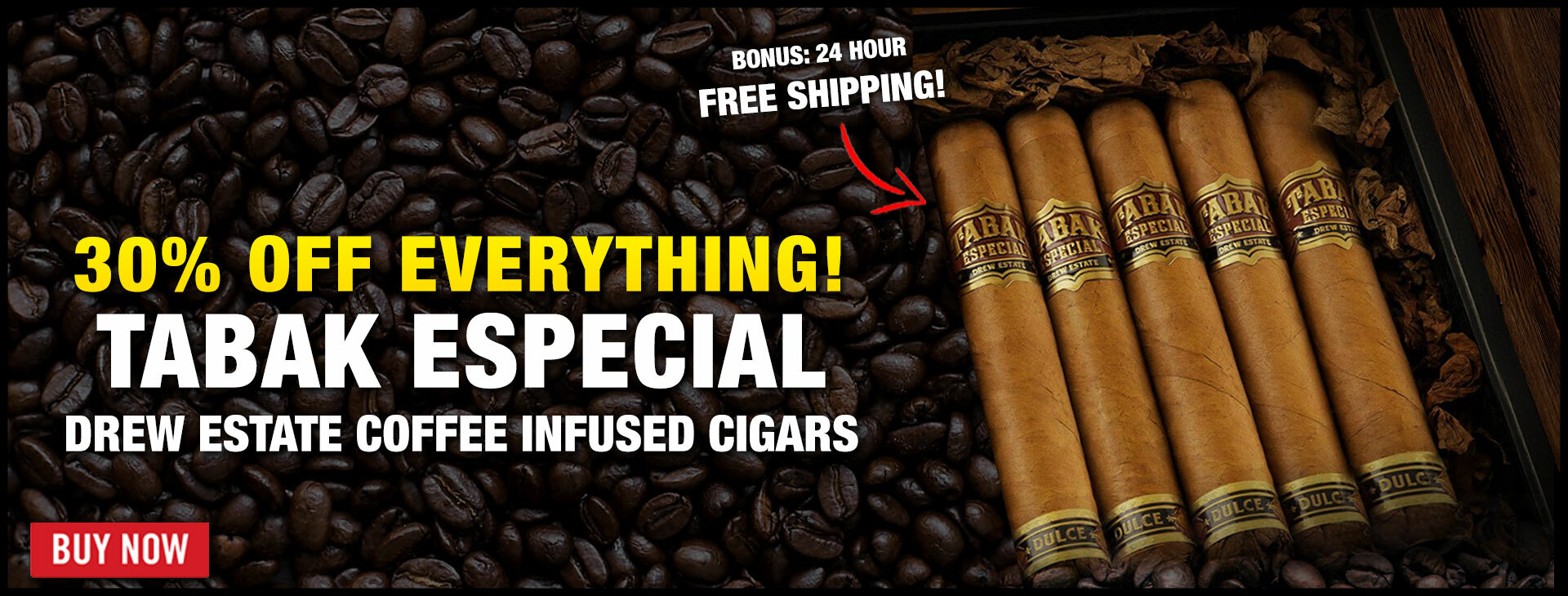 30% OFF Tabak Especial By Drew Estate