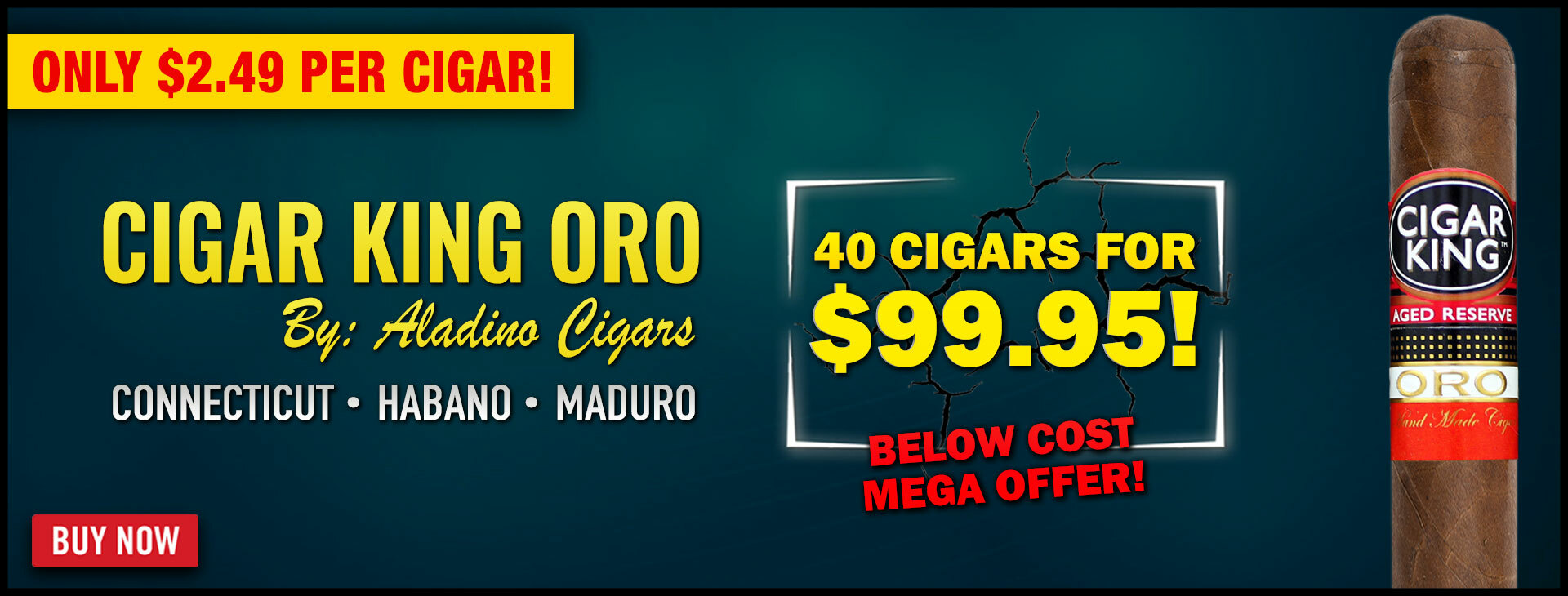 CIGAR KING ORO BY ALADINO - 75% OFF!