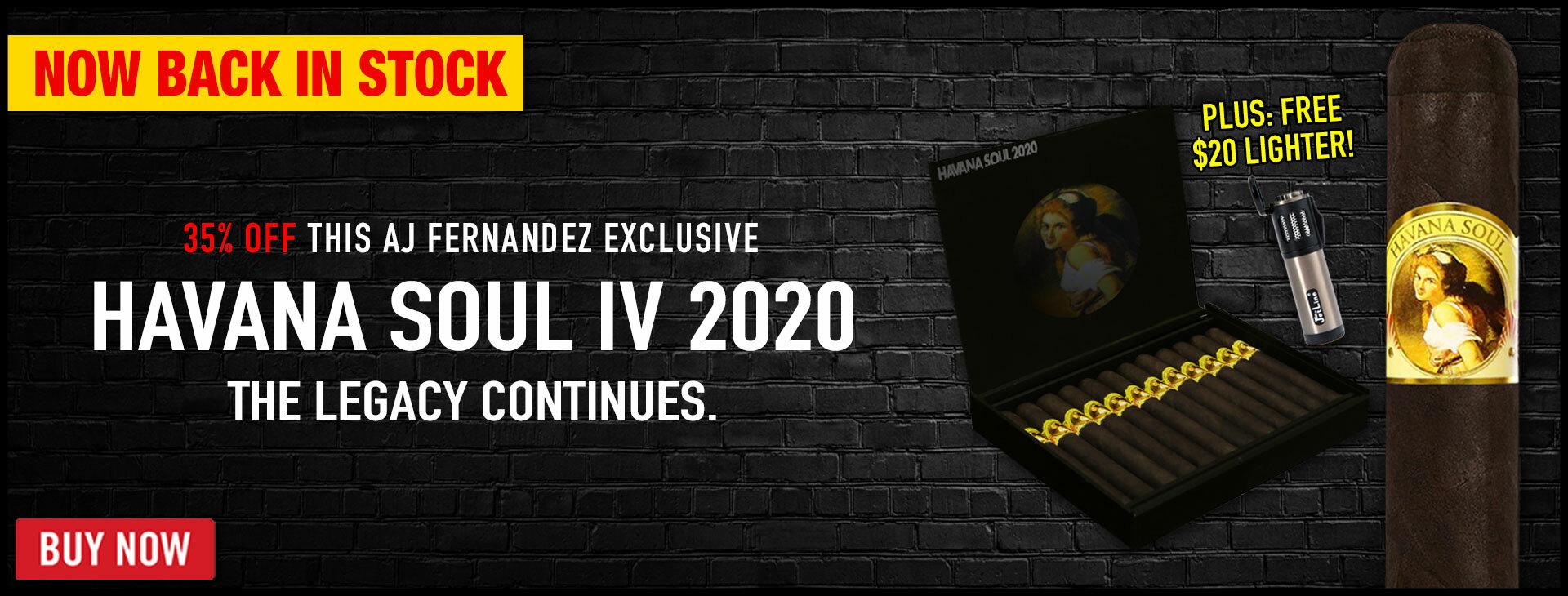 ITS BACK: RARE AJ FERNANDEZ HAVANA SOUL 2020