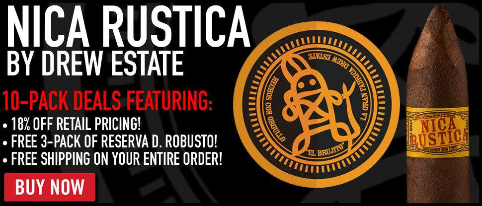 Nica Rustica By Drew Estate 10-Pack Deal!