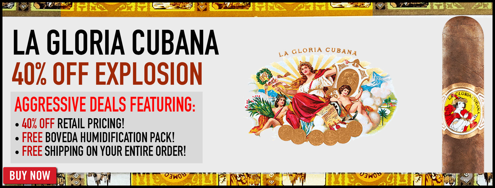 40% OFF La Gloria Cubana - 24 HOURS ONLY!