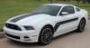 front 2013 Ford Mustang Vinyl Stripes FLIGHT 2013-2014