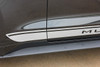 close up FADED ROCKER   Ford Mustang Stripe Silver & Mustang text 2015-2018
