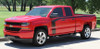 """side of red FLOW : 2018 2017 2016 Chevy Silverado """"Special Edition Rally"""" Hood and Side Door Body Hockey Accent Vinyl Graphic Stripe"""