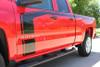 "close up FLOW : 2018 2017 2016 Chevy Silverado ""Special Edition Rally"" Hood and Side Door Body Hockey Accent Vinyl Graphic Stripe"