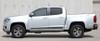 profile of silver 2021 Chevy Colorado Pinstriping RAMPART 2015-2021