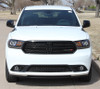 front of 2020 Dodge Durango Hood Decals  DOUBLE BAR 2011-2019 2020 2021