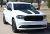 front angle of 2018 Dodge Durango Hood Stripes PROPEL HOOD 2011-2020 2021