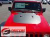 front of red 2019 Jeep Wrangler JL Hood Stripes SPORT HOOD 2018 2019