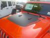 front of orange 2019 Jeep Wrangler JL Hood Stripes SPORT HOOD 2018-2021