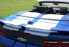 trunk of blue Chevy Camaro Convertible Duel Racing Stripes CAM SPORT 2016 2018