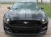 front of Faded Racing Stripes for 2016 Ford Mustang FADED RALLY 2015 2016 2017