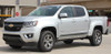 side of silver Chevy Colorado Decals RAMPART 2015 2016 2017 2018 2019 2020