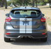 rear of Ford Focus Racing Stripes TARGET FOCUS RALLY 2015-2019