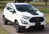 front angle of 2020 Ford EcoSport Hood Decals AMP HOOD 2018-2020