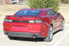 rear angle of red 2019 Camaro Rear Stripes CAM TRUNK BLACKOUT 2019-2020 | FCD