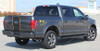 rear angle of 2017 Ford F150 Truck Top Graphics BORDELINE 2015 2016 2017