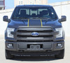 front view of 2017 Ford F150 Truck Top Graphics BORDELINE 2015 2016 2017