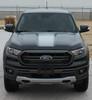 front of black 2019 Ford Ranger Hood Decals VIM HOOD STRIPES 2019 2020 | FCD
