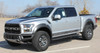 front angle of 2019 Ford F150 Raptor Side Decals VELOCITOR ROCKER 2018-2020