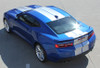 driver side of blue 2019 Camaro Graphics Package TURBO RALLY 19 2019