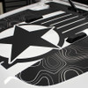 close up of JOURNEY HOOD : 2020-2021 Jeep Gladiator Hood Star Digital and Decals Vinyl Graphics Stripe Kit