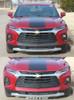 front of ERASER BUMPER GRAPHIC   2019-2021 Chevy Blazer Front Bumper Stripes
