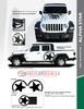 flyer for ALPHA STAR HOOD : 2021-2020 Jeep Gladiator / Wrangler Hood Stripes