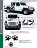 flyer for LEGEND SIDE KIT : 2020-2021 Jeep Gladiator Side Decals Package