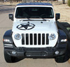 front of white Jeep Gladiator Hood Stripe 2020-2021 LEGEND HOOD (fits Wrangler also)