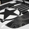 close up of 2021 Jeep Gladiator Map Hood Stripes 2020-2021 JOURNEY HOOD