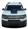 hood view of NEW Ford Bronco Hood Stripes RIDER HOOD 2021 and up All Models