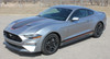 front angle of 2020 Ford Mustang Stripes SUPERSONIC KIT Digital Print 2018-2021